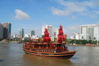 Dinner Cruise on Indochina Junk Saigon River
