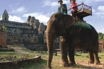 Elephant ride in Angkor Wat, Siem Reap Cambodia