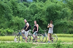Cycling in Mai Chau valley