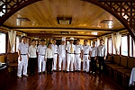 Crew members on Victory Cruise Halong Bay