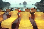 Sun deck on Ginger Cruise in Halong Bay, Vietnam