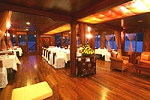 Fine dinning room Ginger Cruise in Halong Bay, Vietnam