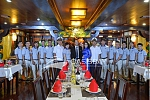 Crew members on Oasis Bay Cruises Halong Bay